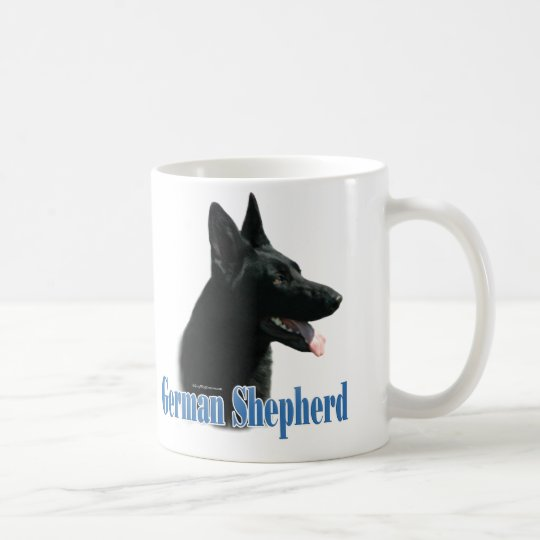 German Shepherd (black) Name Coffee Mug