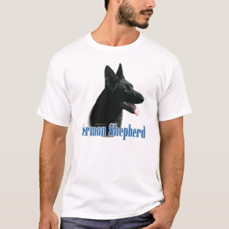 German Shepherd (black) Name T-Shirt