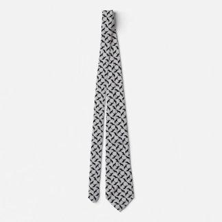 German Shepherd black on grey Tie