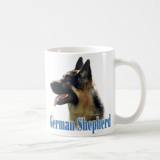 German Shepherd (black/tan) Name Classic White Coffee Mug