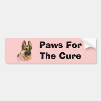 German Shepherd Breast Cancer Bumper Sticker