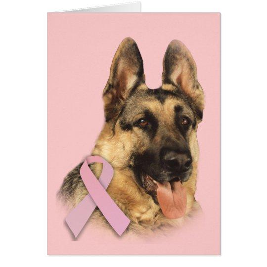 German Shepherd Breast Cancer Greeting Card