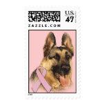German Shepherd Breast Cancer Postage Stamp