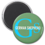 German Shepherd Breed Monogram Design Magnet