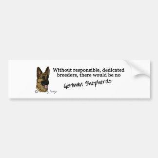 German Shepherd - breeders Car Bumper Sticker