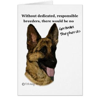 German Shepherd - breeders Card