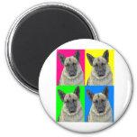 German Shepherd Bright Primary Collage Fridge Magnet