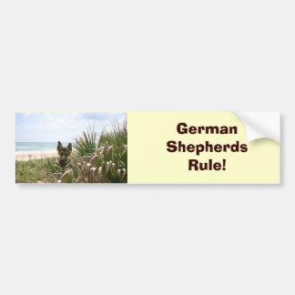 German Shepherd Bumper Sticker Beachgrass Car Bumper Sticker
