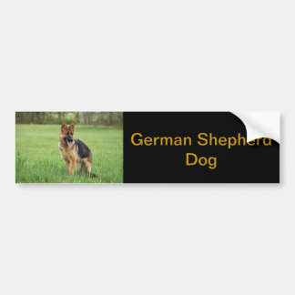 German Shepherd Bumper Sticker Car Bumper Sticker