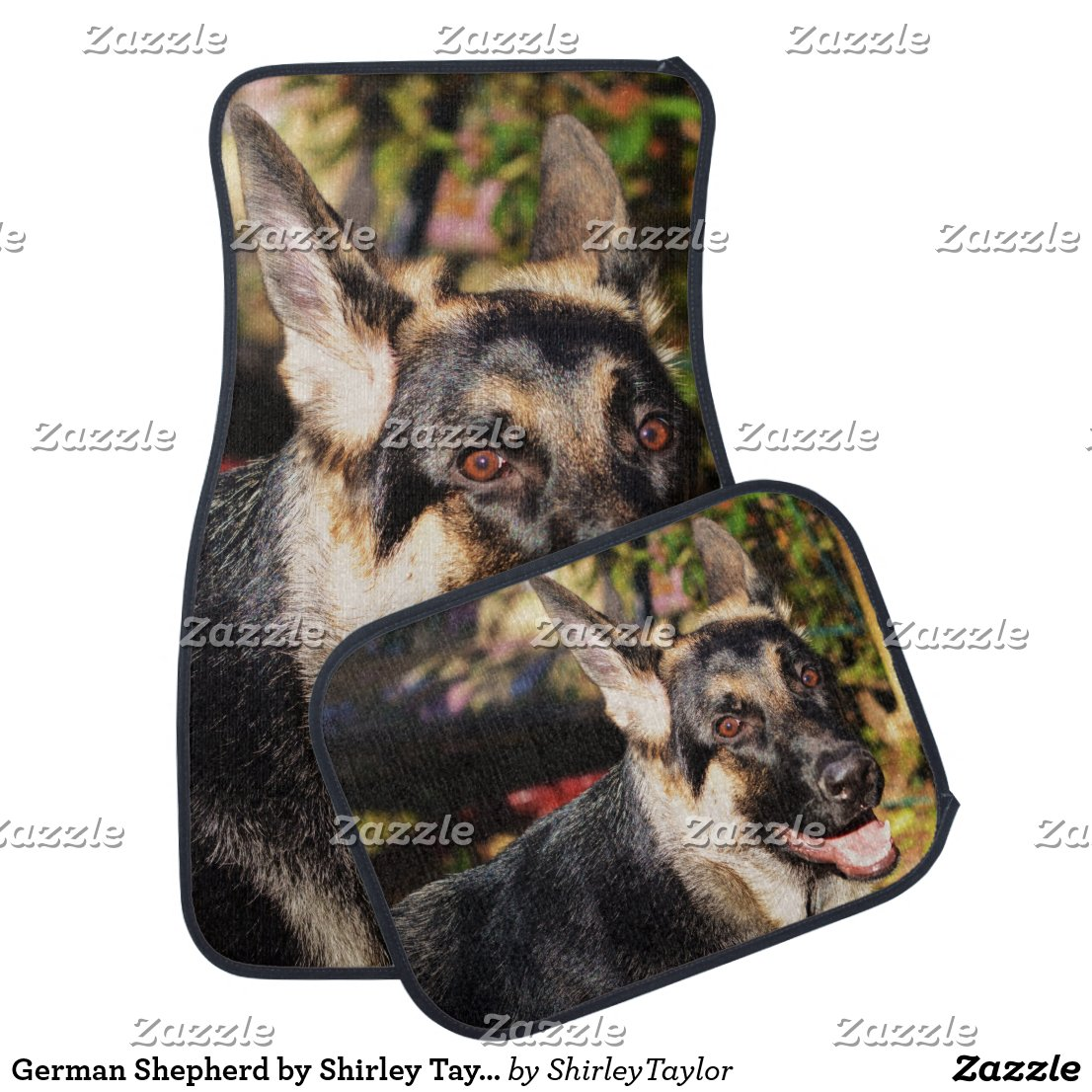 German Shepherd by Shirley Taylor Car Mat