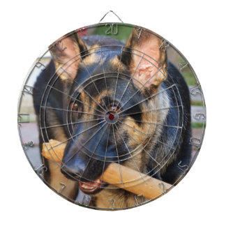 German Shepherd by Shirley Taylor Dartboard With Darts