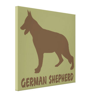 German Shepherd Stretched Canvas Prints