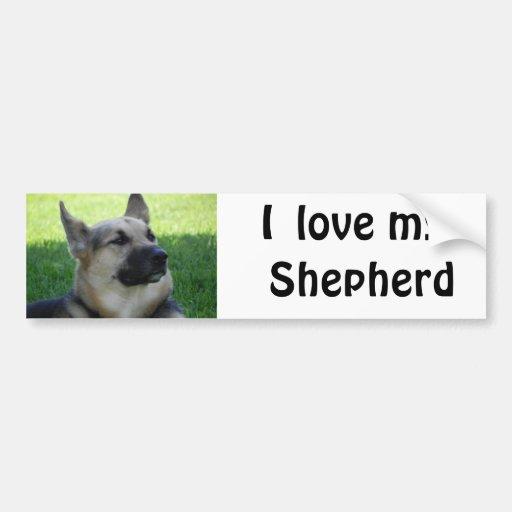 German Shepherd Car Bumper Sticker