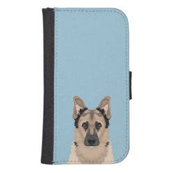 Samsung Galaxy S4 Wallet Case with German Shepherd Phone Cases design