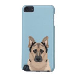 German Shepherd Cartoon iPod Touch (5th Generation) Case