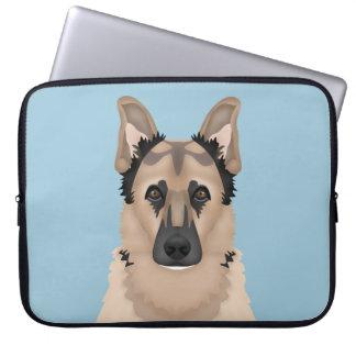 german shepherd cartoon laptop sleeve