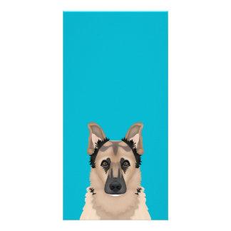 german shepherd cartoon photo card