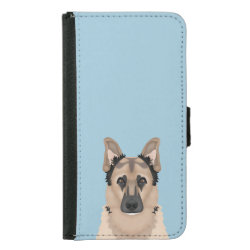 German Shepherd Cartoon Samsung Galaxy S5 Wallet Case