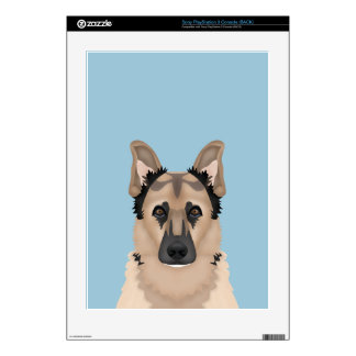 german shepherd cartoon skin for the PS3
