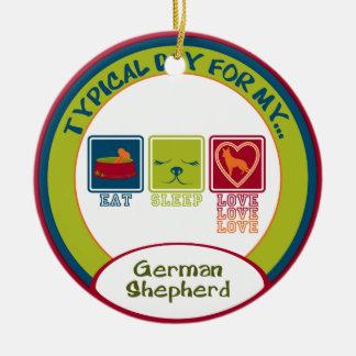 German Shepherd Ceramic Ornament