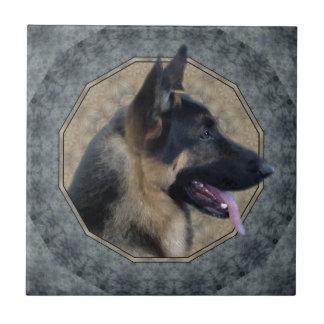 German Shepherd Ceramic Tile