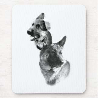 German Shepherd Charcoal 2 Mouse Pad