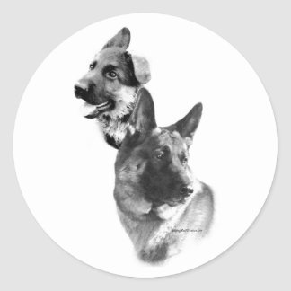 German Shepherd Charcoal 2 - Sticker