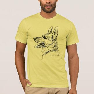 German Shepherd  Charcoal Drawing Desie T-Shirt
