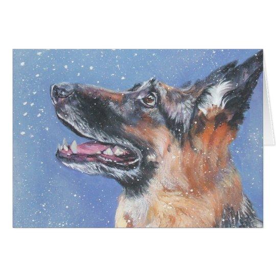 German Shepherd Christmas Card