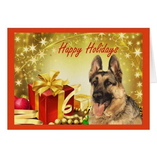 German Shepherd Christmas Card Gifts