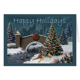 German Shepherd Christmas Evening3 Card