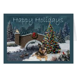 German Shepherd Christmas Evening4 Card