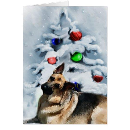 German Shepherd Christmas Gifts Card