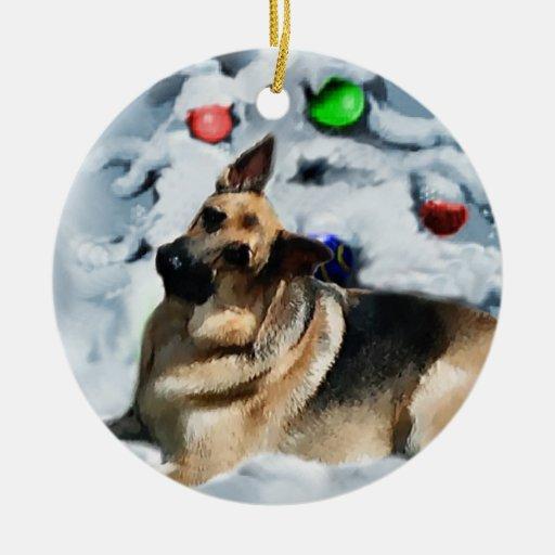 German Shepherd Christmas Gifts Ornaments