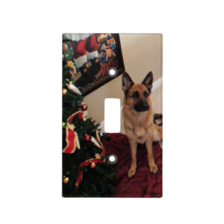 German Shepherd Christmas Light Switch Cover