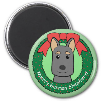 German Shepherd Christmas Fridge Magnets