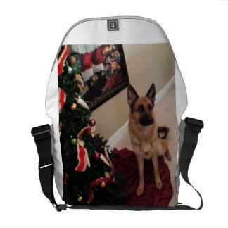 German Shepherd Christmas Messenger Bag Gift
