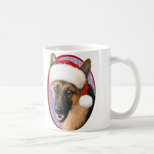 German Shepherd Christmas Santa Hat Mug