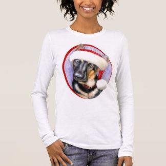 German Shepherd Christmas Santa Pup Long Sleeve T-Shirt