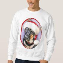 German Shepherd Christmas Santa Pup Sweatshirt