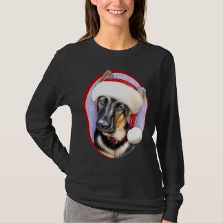 German Shepherd Christmas Santa Pup T-Shirt