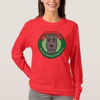 German Shepherd Christmas T-Shirt