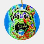 German Shepherd Christmas Tree Ornaments