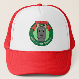 German Shepherd Christmas Trucker Hat