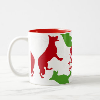German Shepherd Christmas Two-Tone Coffee Mug