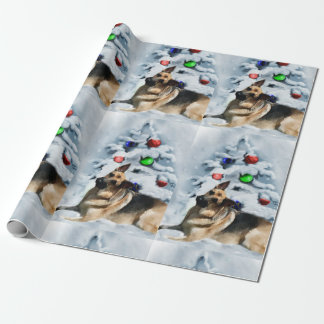 German Shepherd Christmas Wrapping Paper