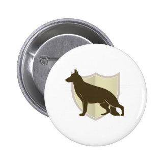 German Shepherd Clasic Crest Design Buttons