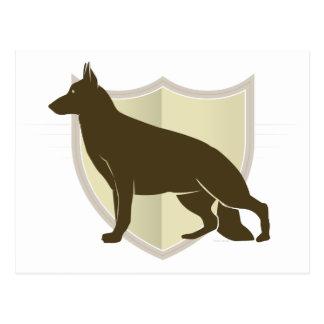 German Shepherd Clasic Crest Design Postcard
