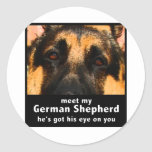 German Shepherd Classic Round Sticker