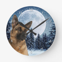 German Shepherd Clock